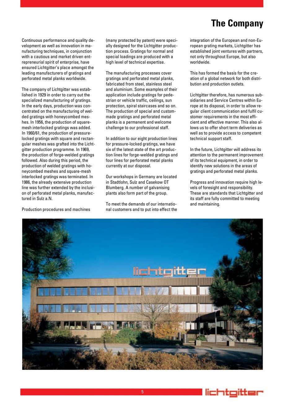 Pagina 5 - Scari si trepte metalice LICHTGITTER RO LG Special, LG Standard Catalog, brosura Engleza ...