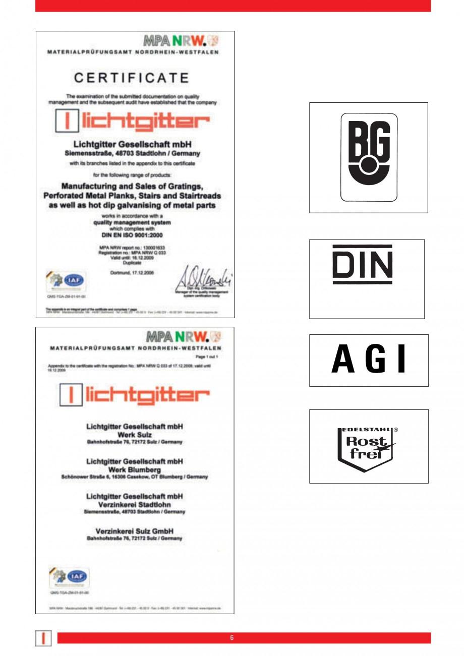 Pagina 6 - Scari si trepte metalice LICHTGITTER RO LG Special, LG Standard Catalog, brosura Engleza ...