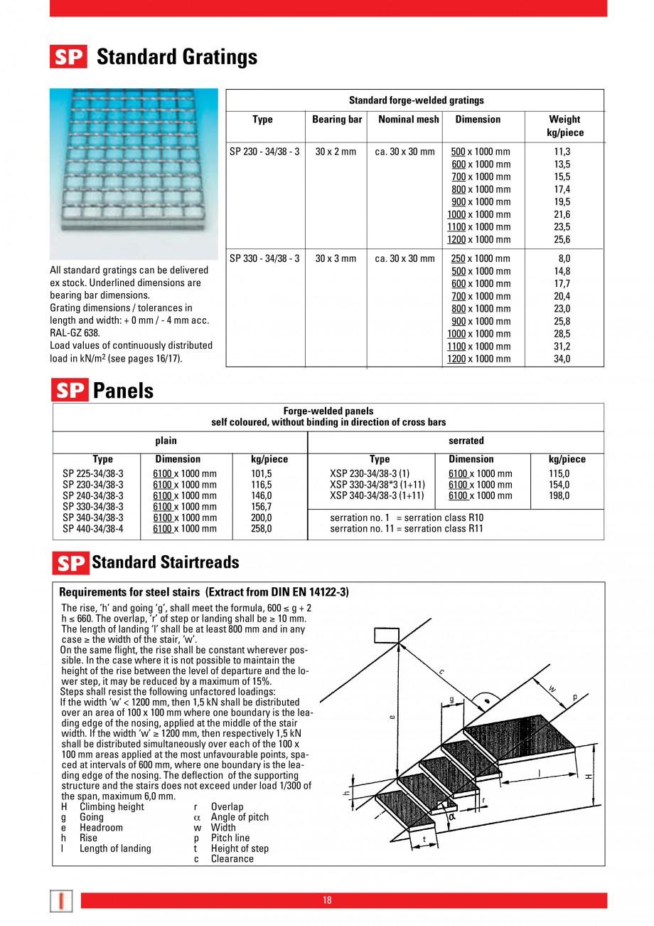 Pagina 18 - Scari si trepte metalice LICHTGITTER RO LG Special, LG Standard Catalog, brosura Engleza...