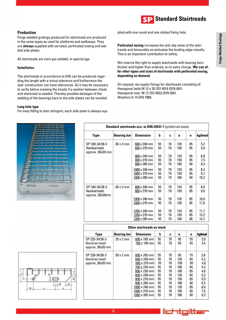 Pagina 19 - Scari si trepte metalice LICHTGITTER RO LG Special, LG Standard Catalog, brosura Engleza...