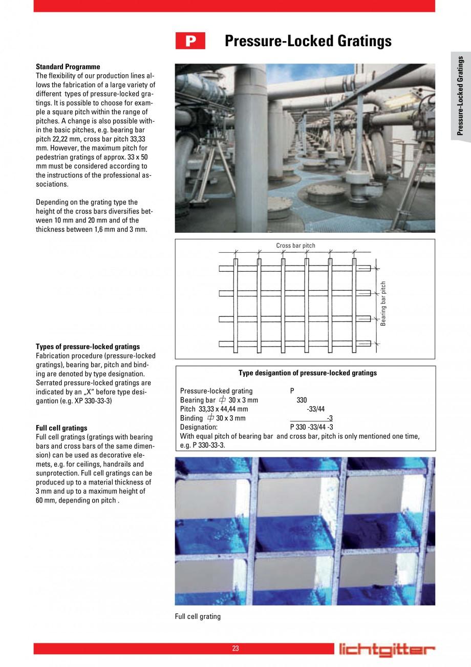 Pagina 23 - Scari si trepte metalice LICHTGITTER RO LG Special, LG Standard Catalog, brosura Engleza...