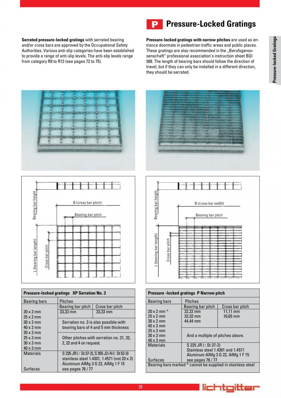 Pagina 25 - Scari si trepte metalice LICHTGITTER RO LG Special, LG Standard Catalog, brosura Engleza...