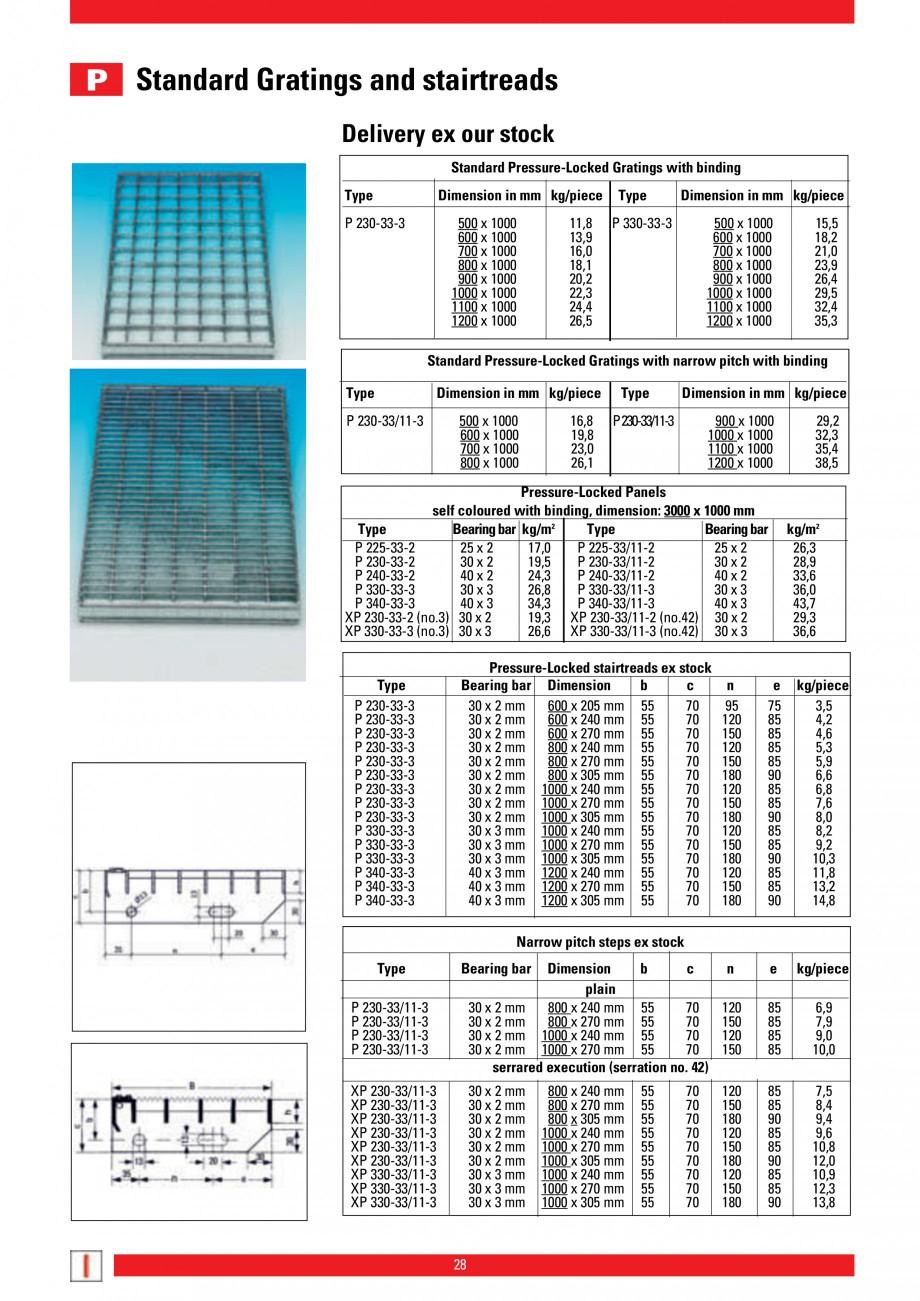 Pagina 28 - Scari si trepte metalice LICHTGITTER RO LG Special, LG Standard Catalog, brosura Engleza...