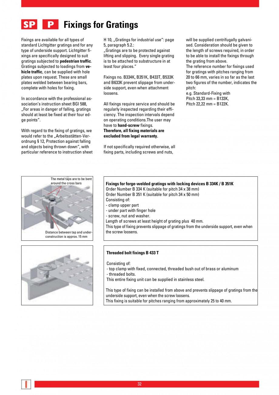 Pagina 32 - Scari si trepte metalice LICHTGITTER RO LG Special, LG Standard Catalog, brosura Engleza...