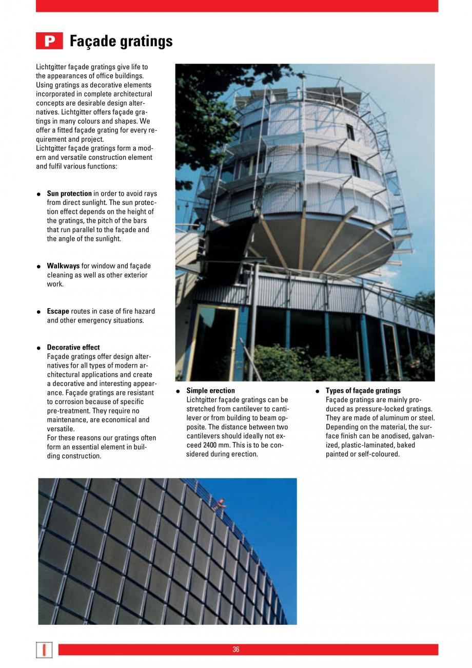 Pagina 36 - Scari si trepte metalice LICHTGITTER RO LG Special, LG Standard Catalog, brosura Engleza...