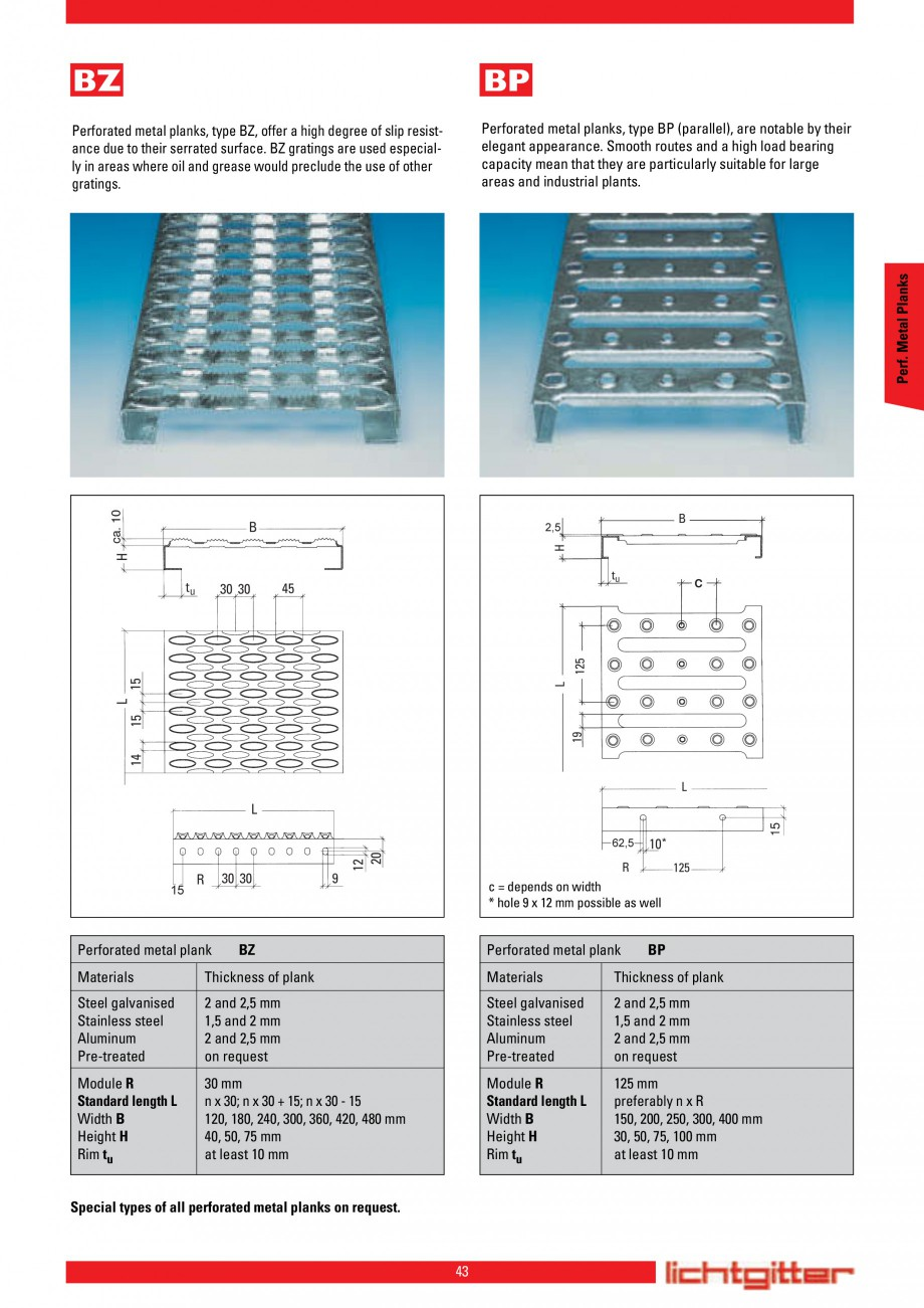 Pagina 43 - Scari si trepte metalice LICHTGITTER RO LG Special, LG Standard Catalog, brosura Engleza...