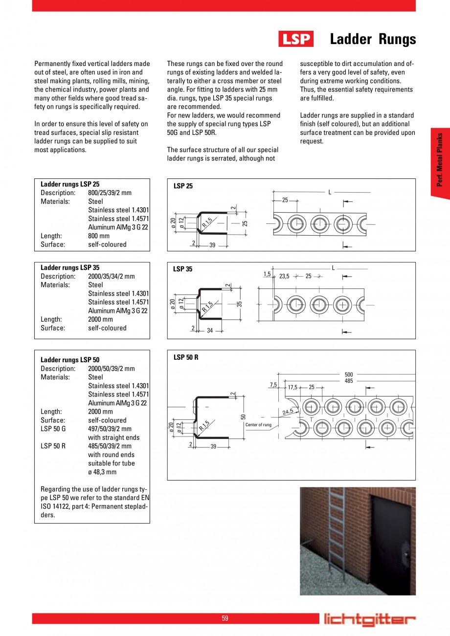 Pagina 59 - Scari si trepte metalice LICHTGITTER RO LG Special, LG Standard Catalog, brosura Engleza...