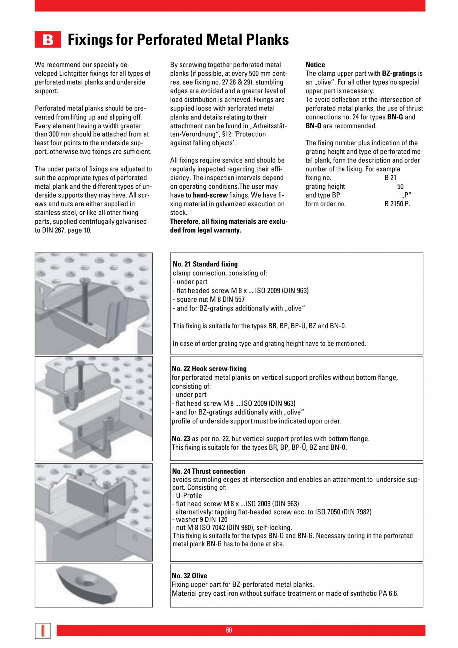 Pagina 60 - Scari si trepte metalice LICHTGITTER RO LG Special, LG Standard Catalog, brosura Engleza...