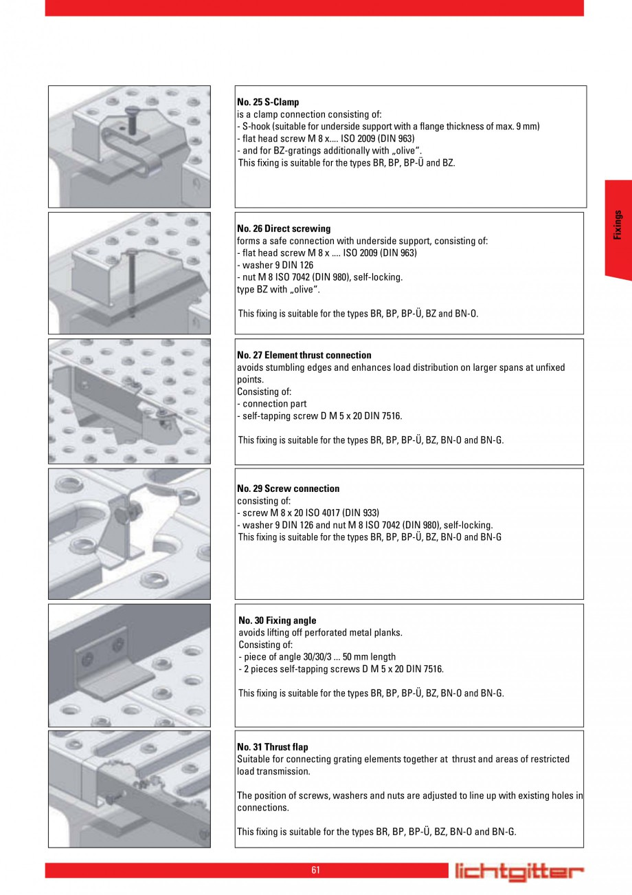 Pagina 61 - Scari si trepte metalice LICHTGITTER RO LG Special, LG Standard Catalog, brosura Engleza...