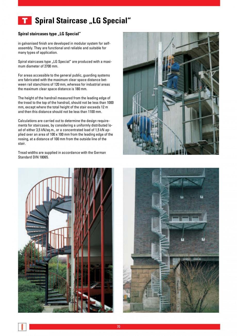 Pagina 70 - Scari si trepte metalice LICHTGITTER RO LG Special, LG Standard Catalog, brosura Engleza...