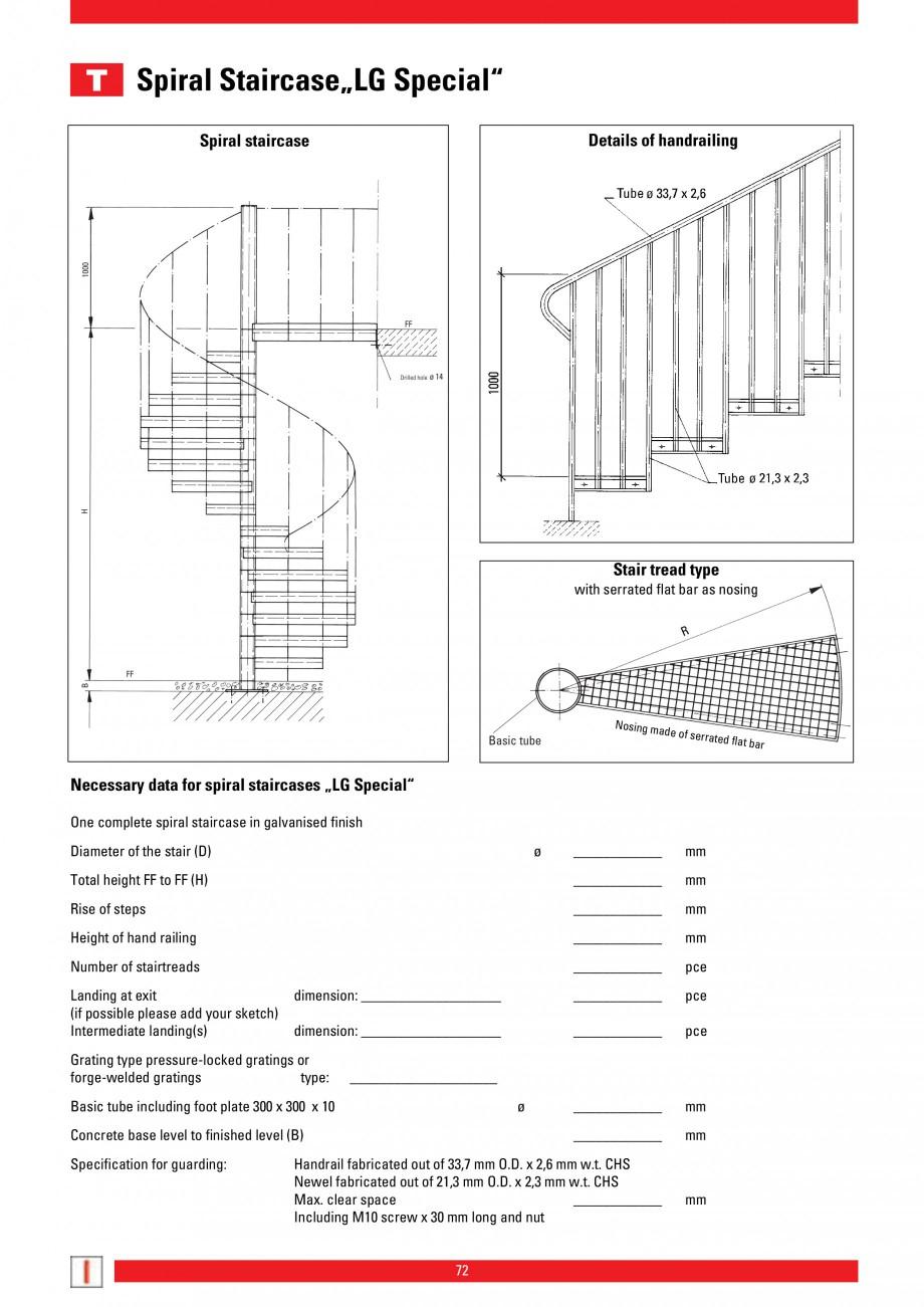 Pagina 72 - Scari si trepte metalice LICHTGITTER RO LG Special, LG Standard Catalog, brosura Engleza...