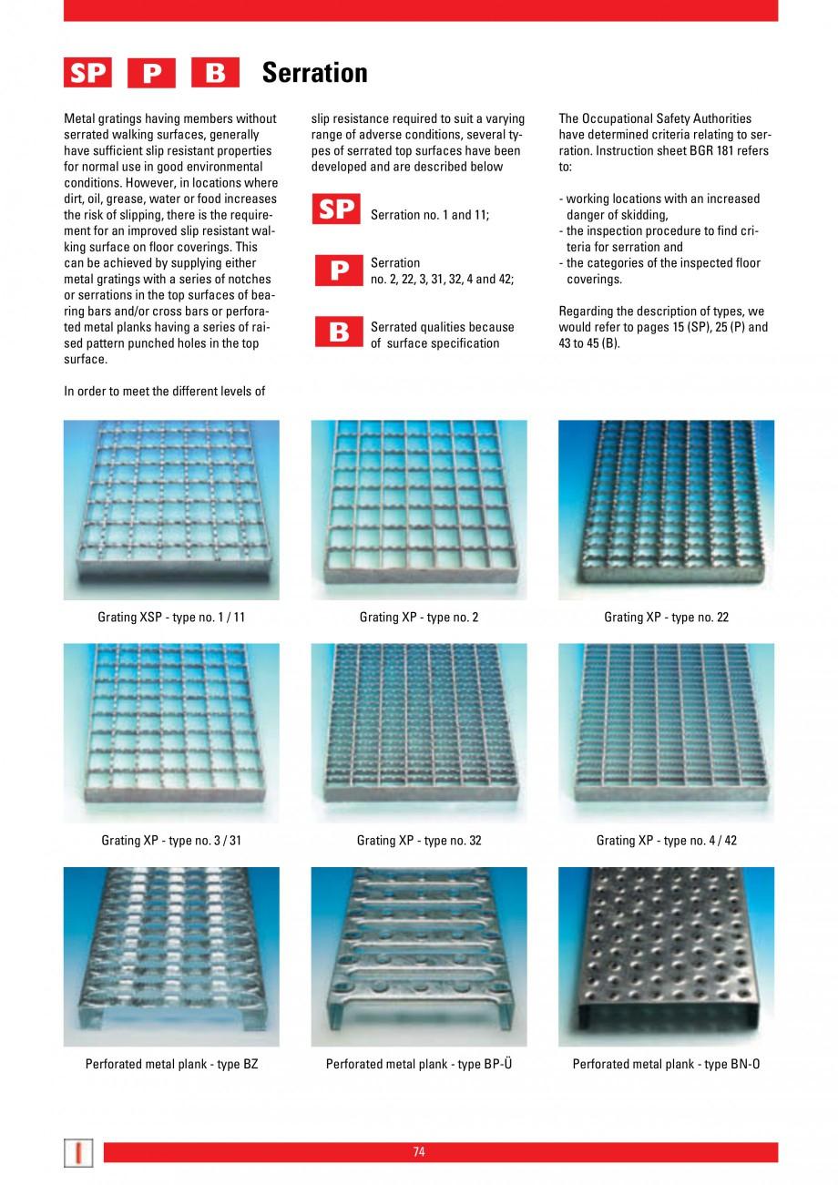 Pagina 74 - Scari si trepte metalice LICHTGITTER RO LG Special, LG Standard Catalog, brosura Engleza...