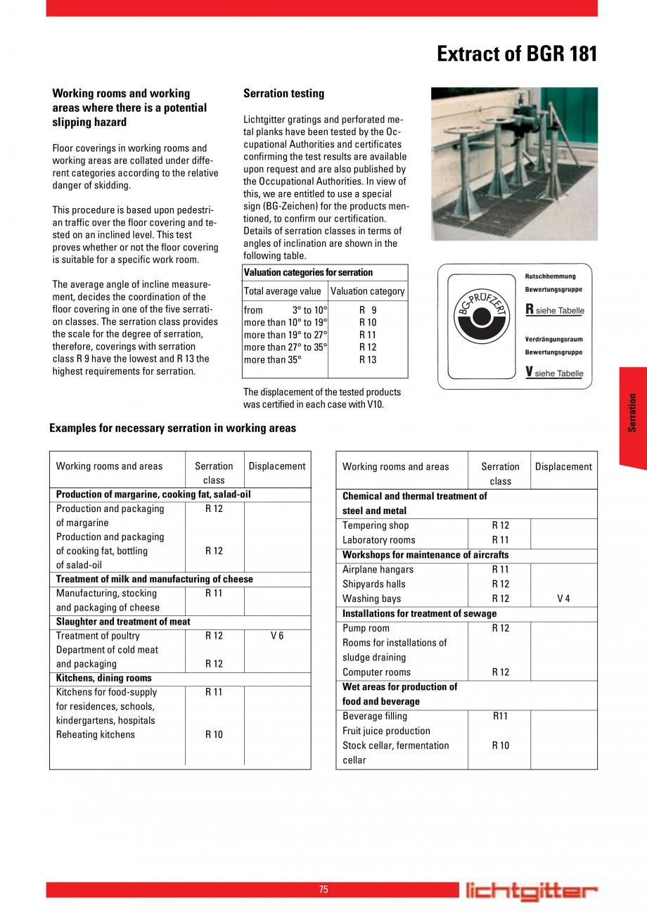 Pagina 75 - Scari si trepte metalice LICHTGITTER RO LG Special, LG Standard Catalog, brosura Engleza...