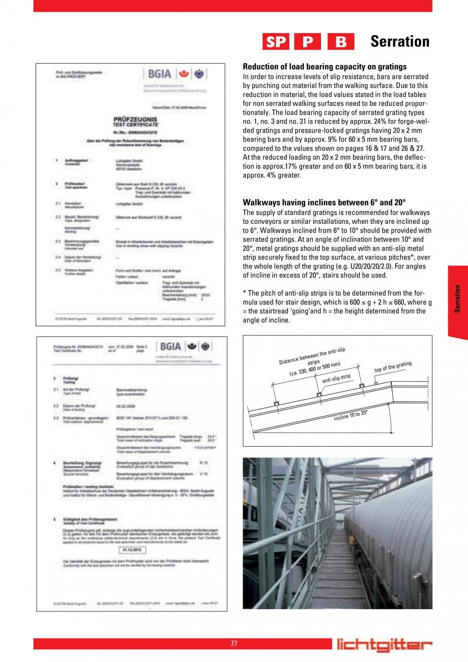 Pagina 77 - Scari si trepte metalice LICHTGITTER RO LG Special, LG Standard Catalog, brosura Engleza...