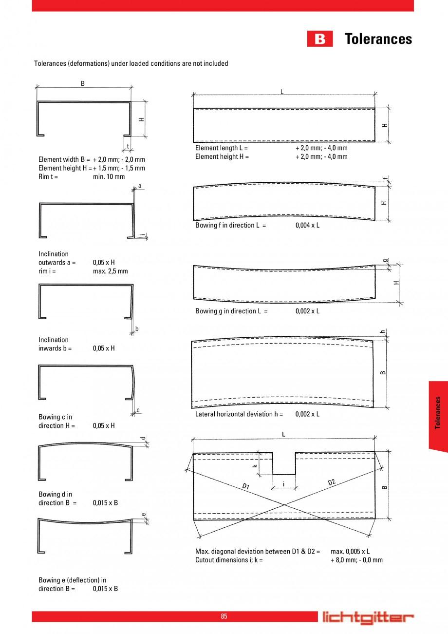 Pagina 85 - Scari si trepte metalice LICHTGITTER RO LG Special, LG Standard Catalog, brosura Engleza...