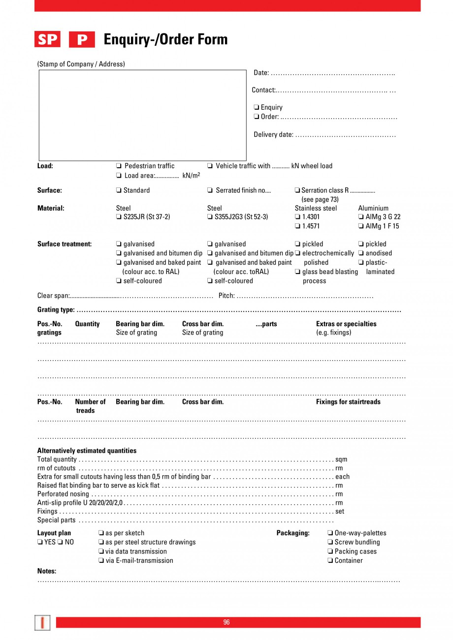Pagina 96 - Scari si trepte metalice LICHTGITTER RO LG Special, LG Standard Catalog, brosura Engleza...