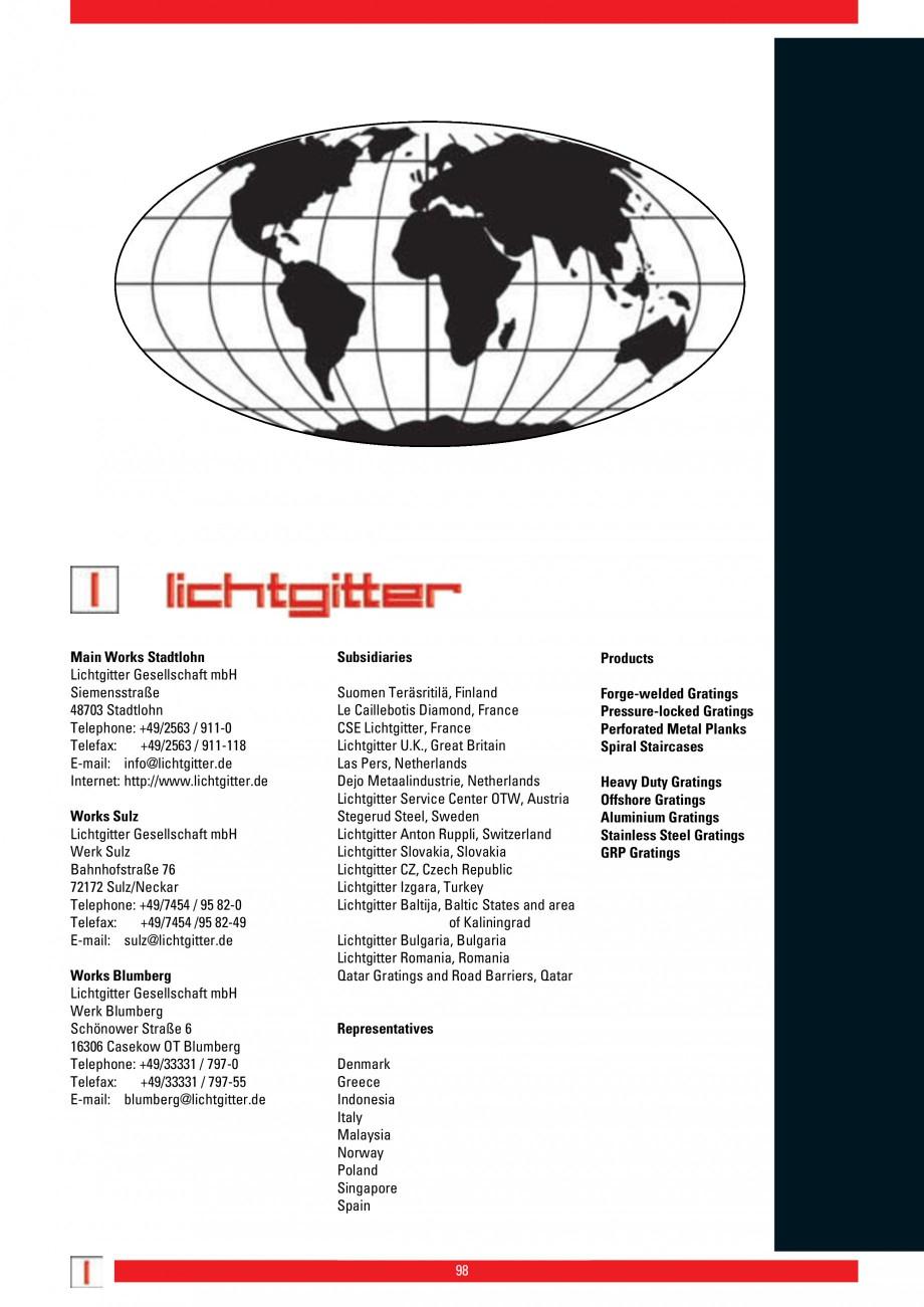 Pagina 98 - Scari si trepte metalice LICHTGITTER RO LG Special, LG Standard Catalog, brosura Engleza...
