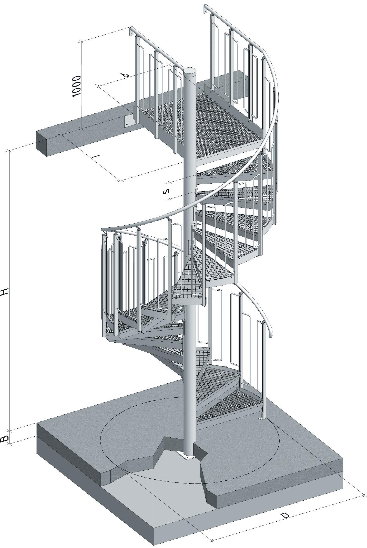 Detaliu Scara spirala LG Standard LICHTGITTER RO - Poza 2
