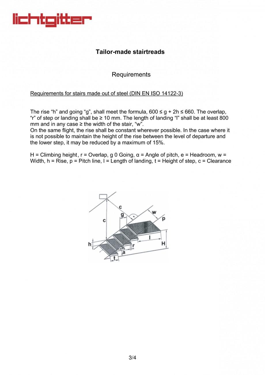 Pagina 3 - Gratare metalice perforate (profile de tabla) B LICHTGITTER RO SP, P, BZ, XSP, XP, BR,...