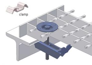 Elemente metalice de fixare standard B 133T si B 133K LICHTGITTER RO - Poza 1