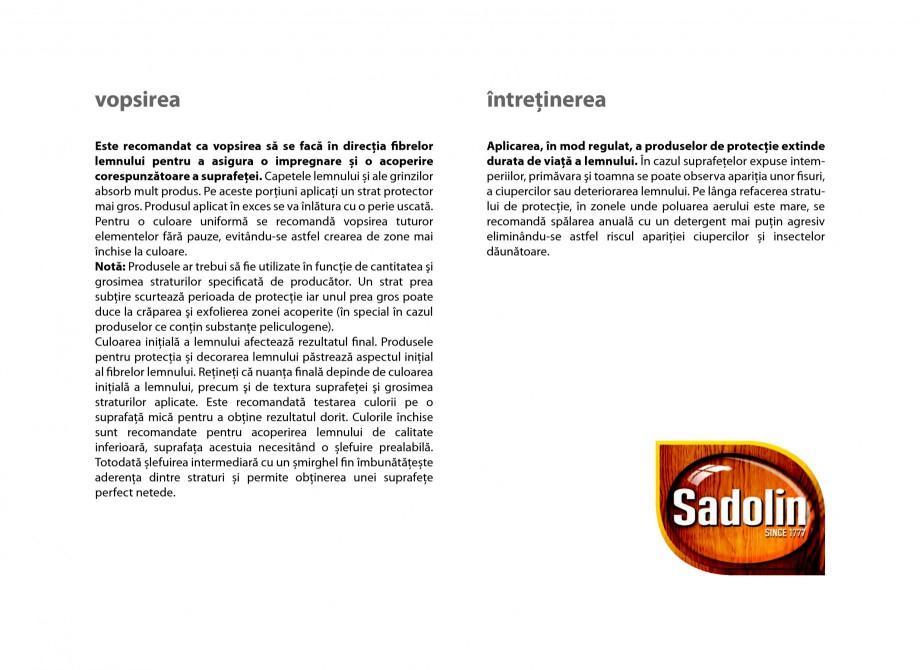 Pagina 9 - Secretul lemnului bine intretinut - Lacuri pentru lemn - Catalog General Sadolin SADOLIN ...