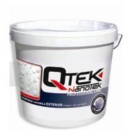 Vopsele lavabile de exterior cu efect de autocuratare QTEK NANOTEK este o vopsea emulsionata lavabila pentru zugraveli  exterioare cu efect de autocuratare, caracterizata prin putere mare de  acoperire, lavabilitate ridicata, clasa I de permeabilitate la vapori si  impermeabilitate la apa, hidrofoba, uscare rapida, rezistenta la  actiunea fungilor si mucegaiului, rezistenta la razele UV. Se aplica pe orice suprafata exterioara pe baza minerala: tencuieli  uzuale de var-ciment, gleturi de var si ipsos, placi de gips-carton,  beton.