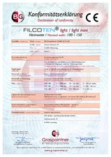 Declaratie de conformitate pentru rigola de trafic auto FILCOTEN