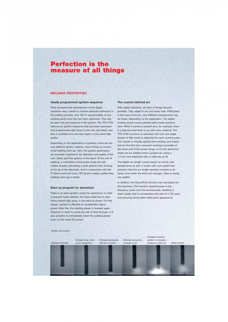 Pagina 3 - Echipament sudura MIG/MAG FRONIUS TransPuls Synergic 2700 Catalog, brosura Engleza al...