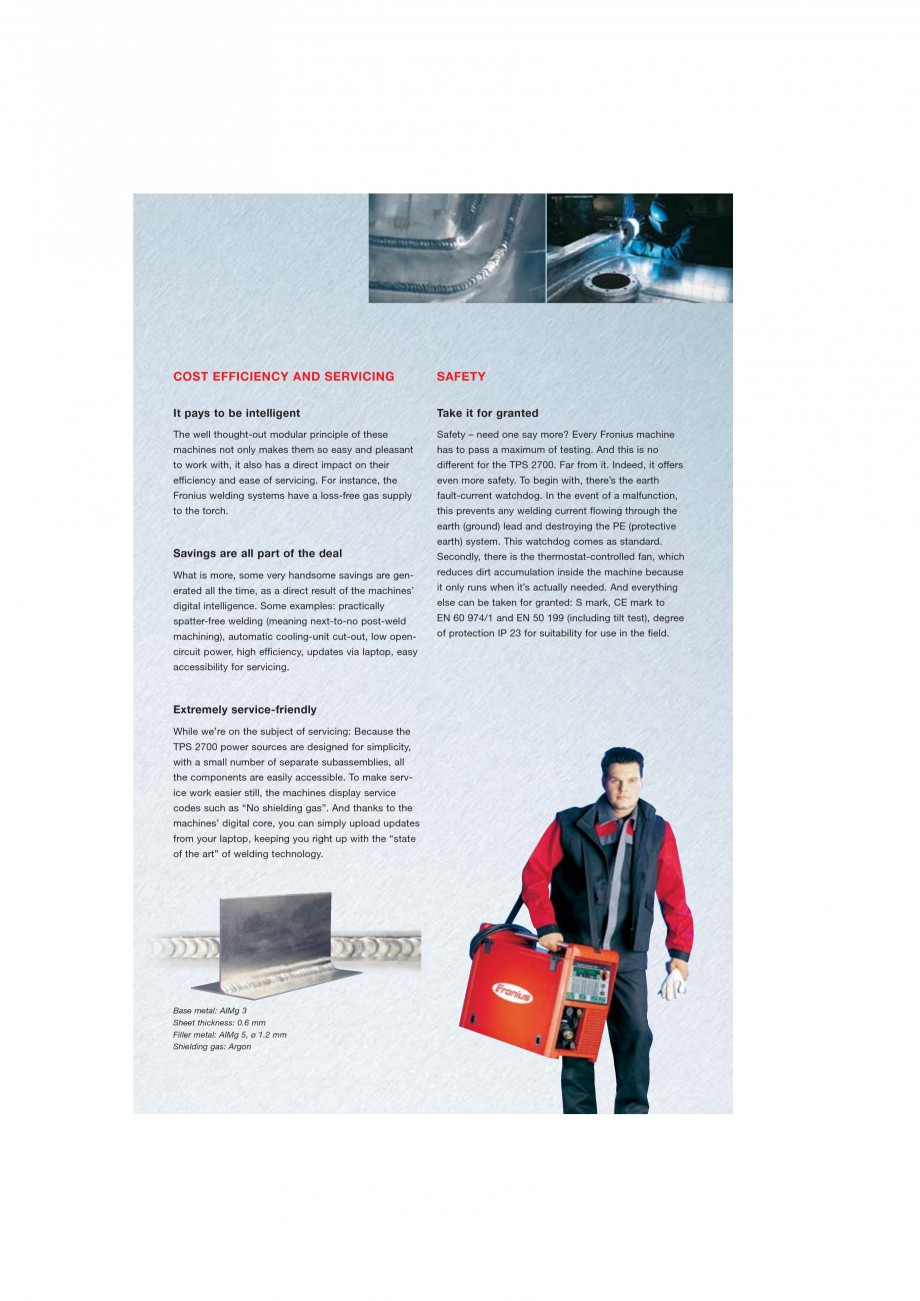 Pagina 4 - Echipament sudura MIG/MAG FRONIUS TransPuls Synergic 2700 Catalog, brosura Engleza  high...