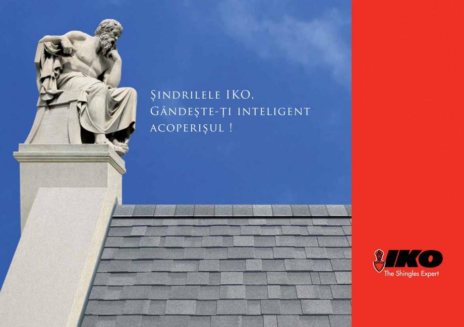 Pagina 1 - Sindrile bituminoase IKO Catalog, brosura Romana Şindrilele IKO, Gândeşte-ţi...
