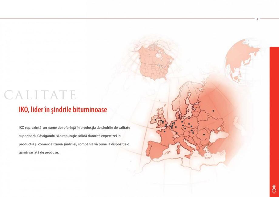 Pagina 3 - Sindrile bituminoase IKO Catalog, brosura Romana rale flexibile şi bunelor calităti...