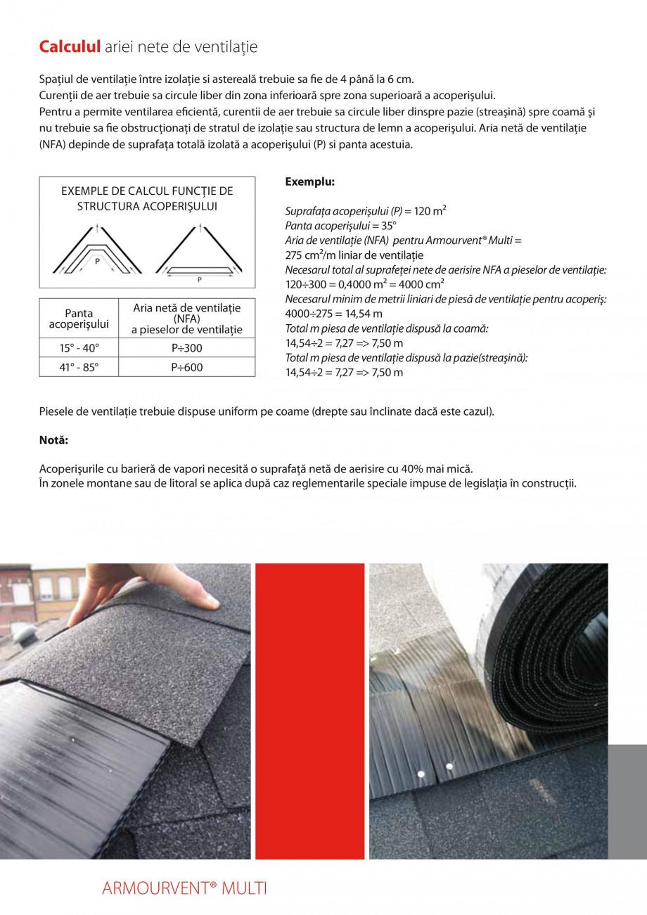 Pagina 5 - Calcularea suprafetei nete de ventilatie IKO ARMOURVENT MULTI Fisa tehnica Romana