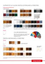 Paleta de culori pentru ferestre INTERNORM
