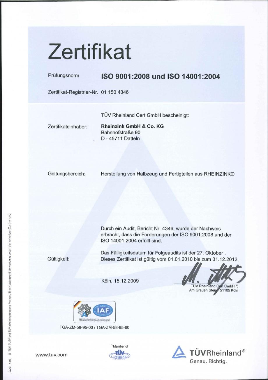 Pagina 1 - Certificat ISO 9001  Certificare produs Germana ' 6  Prf g n r öun s om  I 9001: SO 2008...