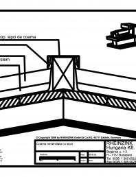 Tabla plana pentru invelitori titan zinc - Coama acoperisului in doua ape, fara ventilare - 2D