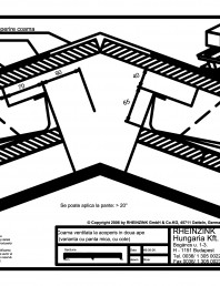 Tabla plana pentru invelitori titan zinc - Coama ventilata la acoperis in doua ape - varianta