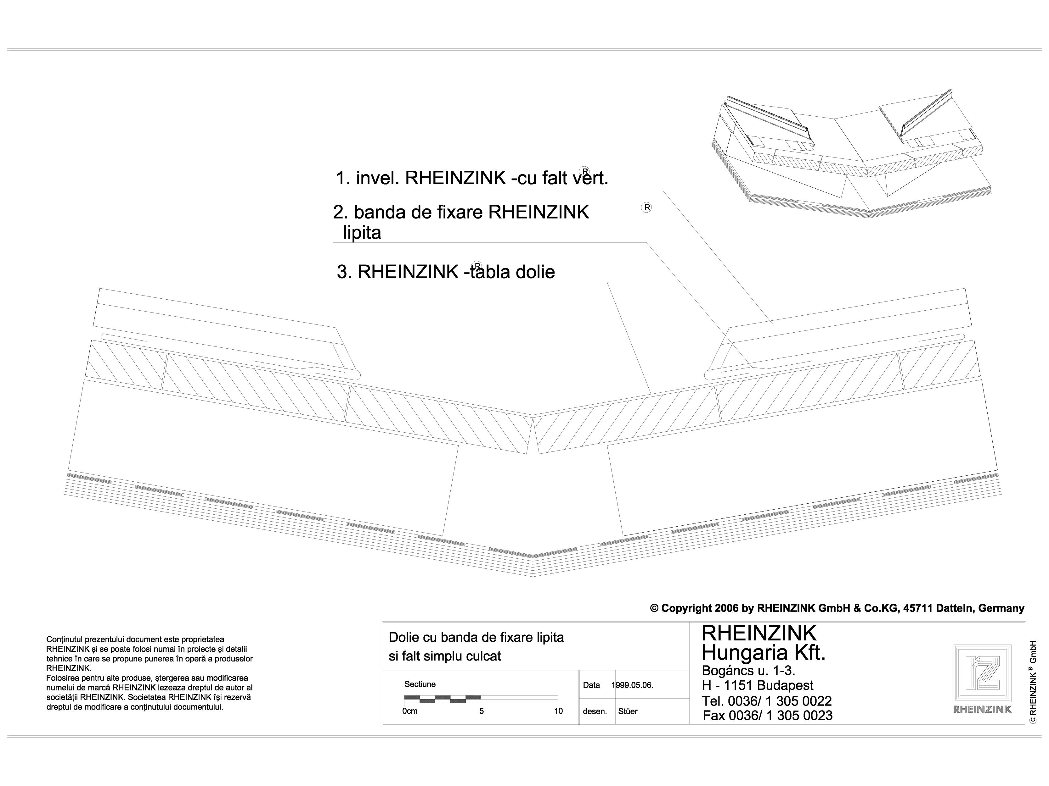 Pagina 1 - CAD-DWG Tabla plana pentru invelitori titan zinc - Dolie cu banda de fixare lipita si...