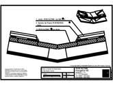 Tabla plana pentru invelitori titan zinc - Dolie cu banda de fixare lipita si falt simplu culcat - 2D RHEINZINK