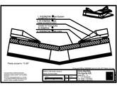 Tabla plana pentru invelitori titan zinc - Dolie cu banda de fixare lipita, panta peste 10 grade - 2D RHEINZINK