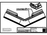 Tabla plana pentru invelitori titan zinc - Dolie cu falt simplu culcat - 2D RHEINZINK