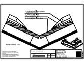 Tabla plana pentru invelitori titan zinc - Dolie cu falt simplu culcat, panta peste 30 grade - 2D RHEINZINK