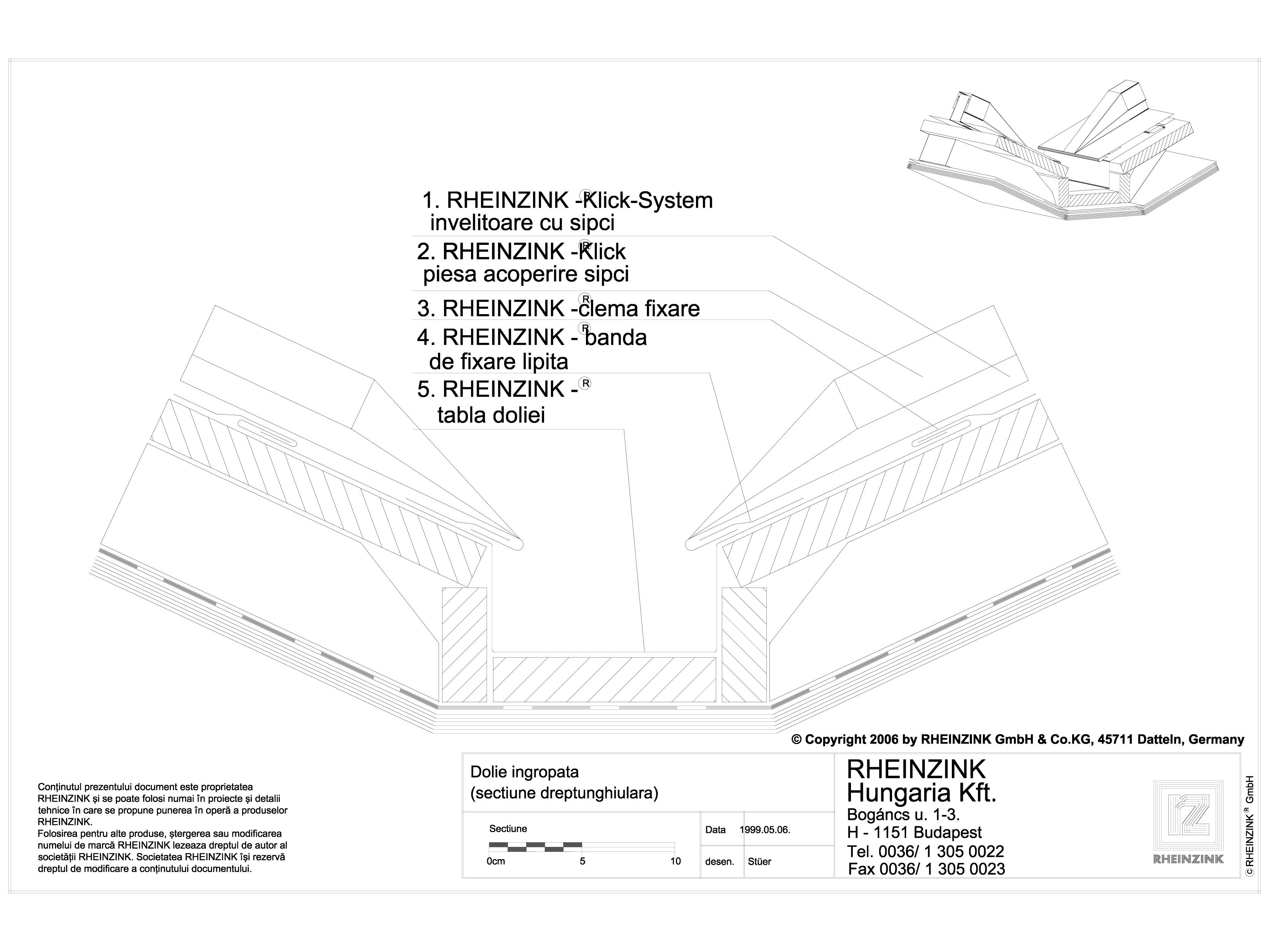 Pagina 1 - CAD-DWG Tabla plana pentru invelitori titan zinc - Dolie ingropata dreptunghiulara cu...