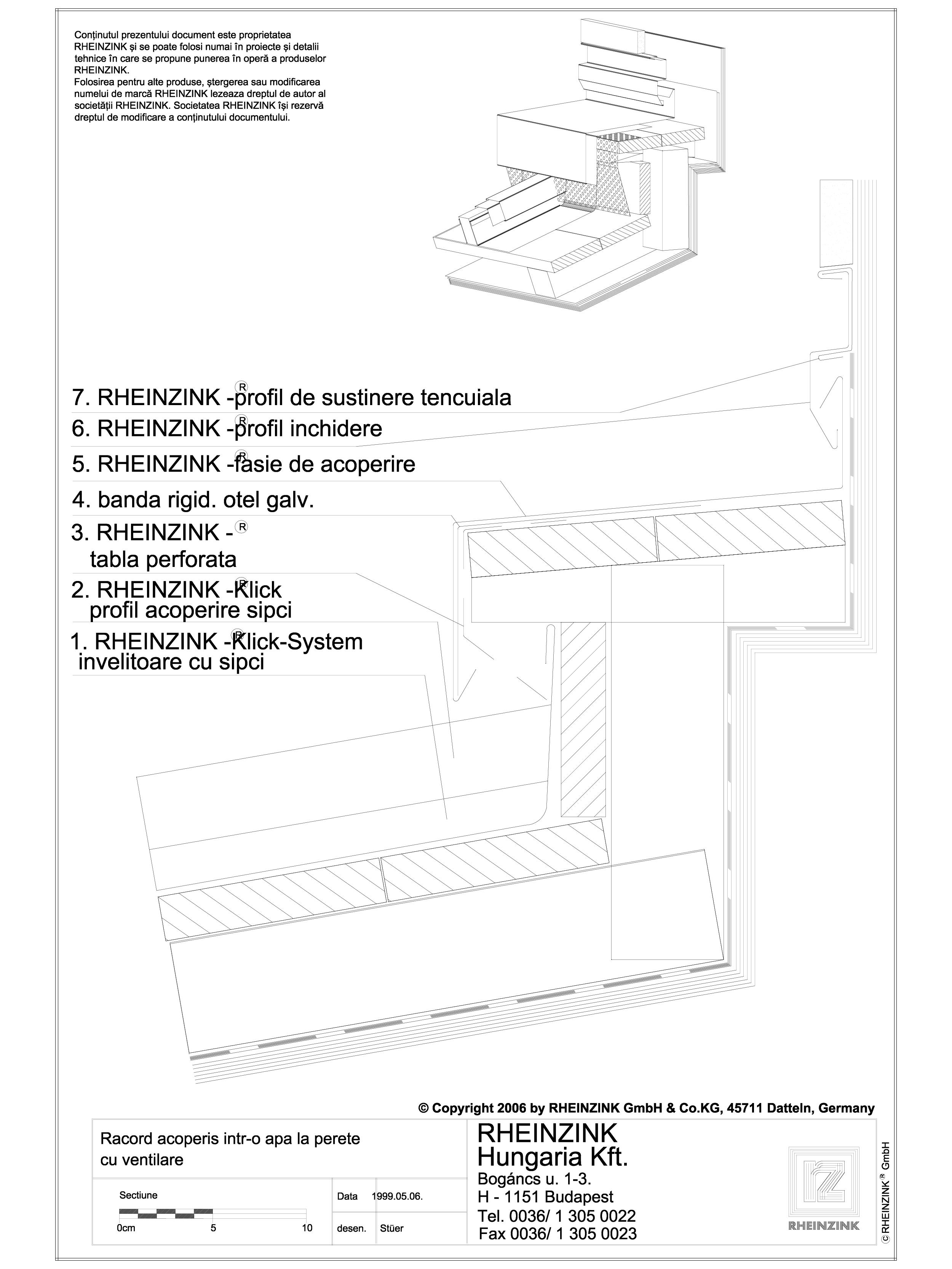 Pagina 1 - CAD-DWG Tabla plana pentru invelitori titan zinc - Racord acoperis intr-o apa la perete...