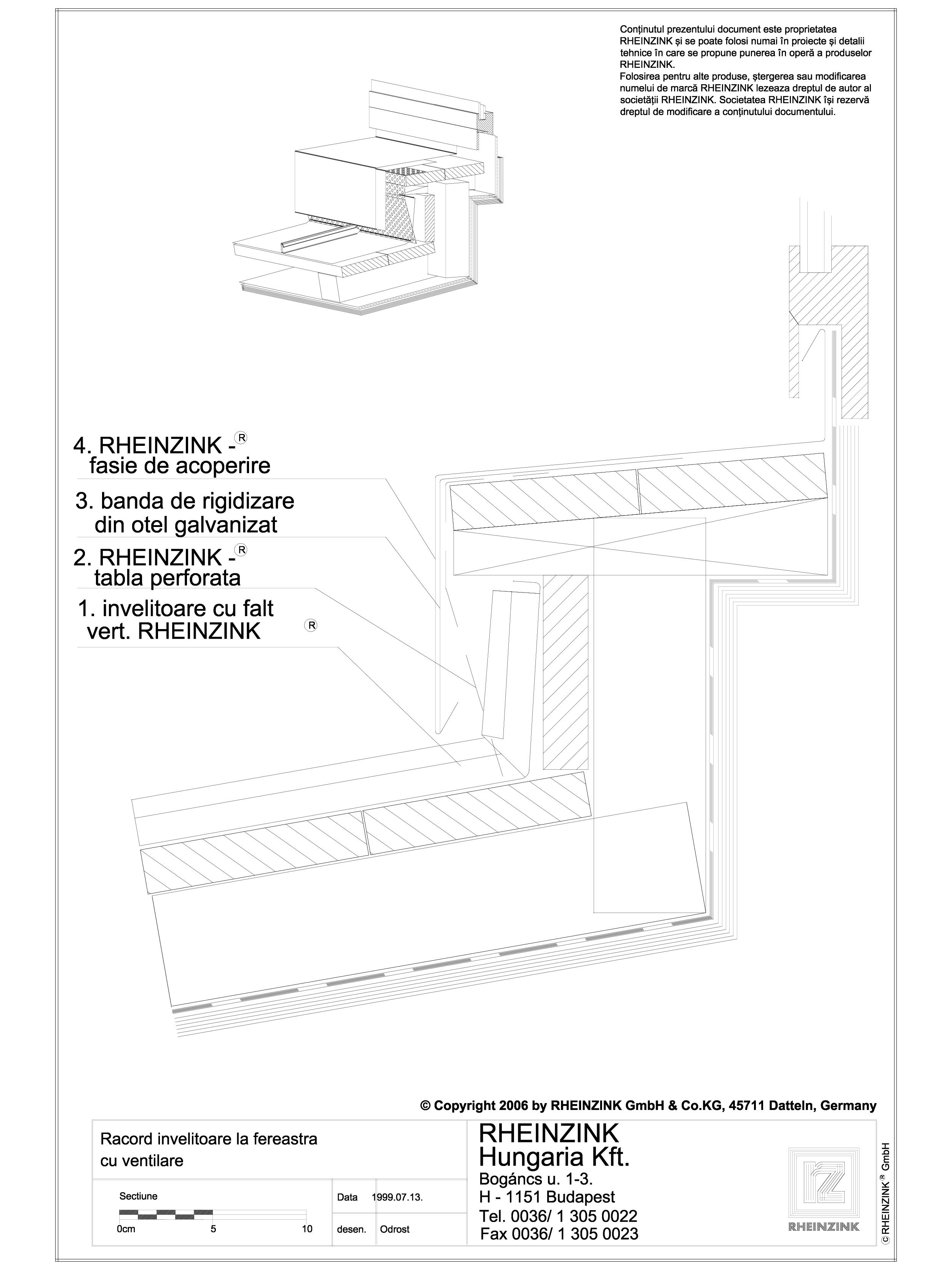 Pagina 1 - CAD-DWG Tabla plana pentru invelitori titan zinc - Racord invelitoare la fereastra cu...