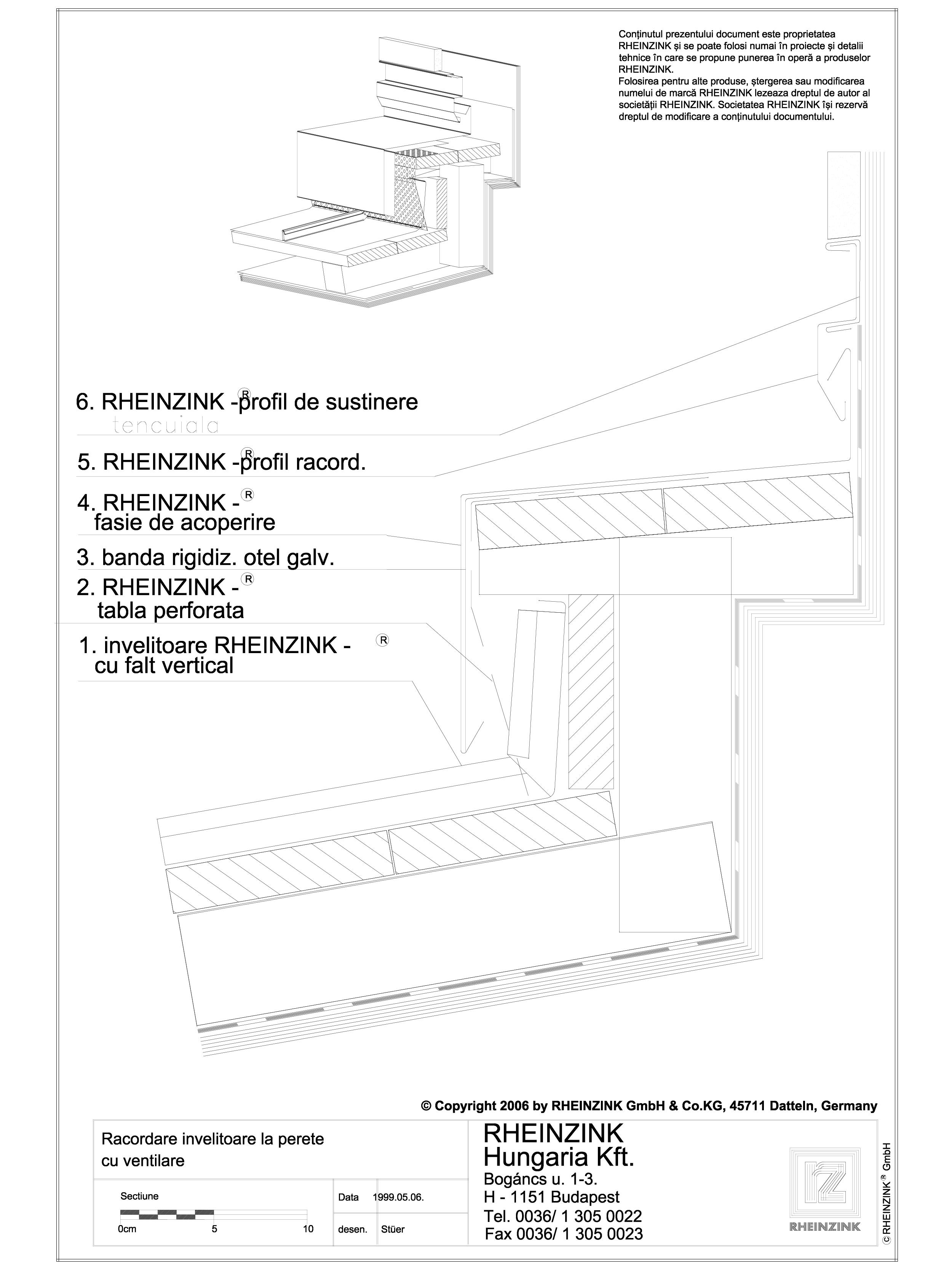 Pagina 1 - CAD-DWG Tabla plana pentru invelitori titan zinc - Racord invelitoare la perete cu...