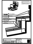 Tabla plana pentru invelitori titan zinc - Racord invelitoare la perete cu ventilare A - 2D
