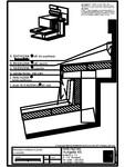 Tabla plana pentru invelitori titan zinc - Racord invelitoare la perete cu ventilare B - 2D