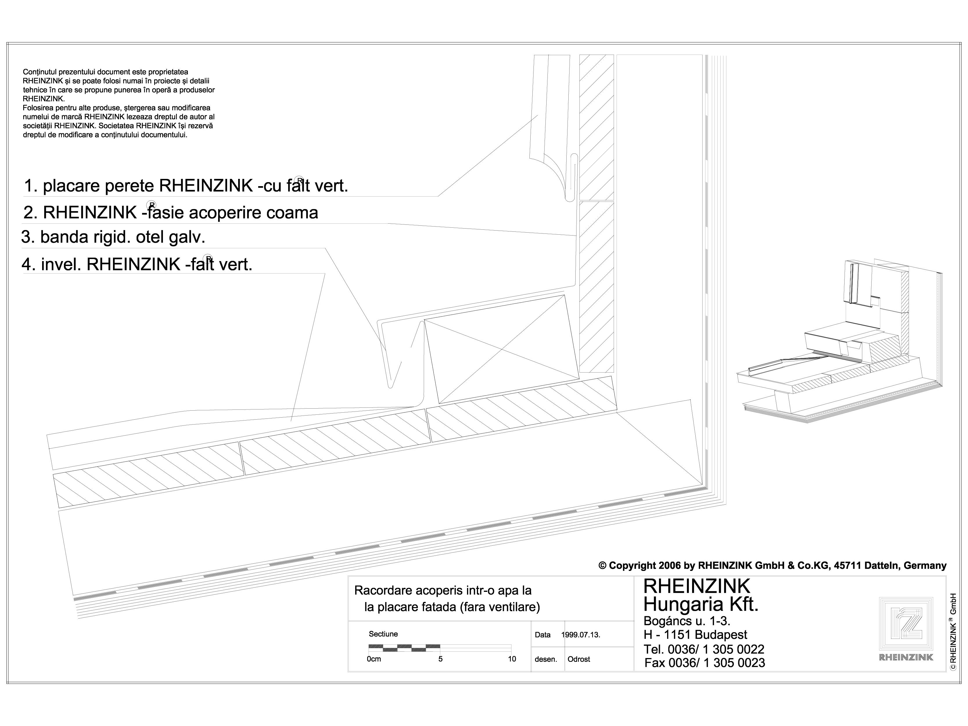 Pagina 1 - CAD-DWG Tabla plana pentru invelitori titan zinc - Racordare acoperis intr-o apa la...