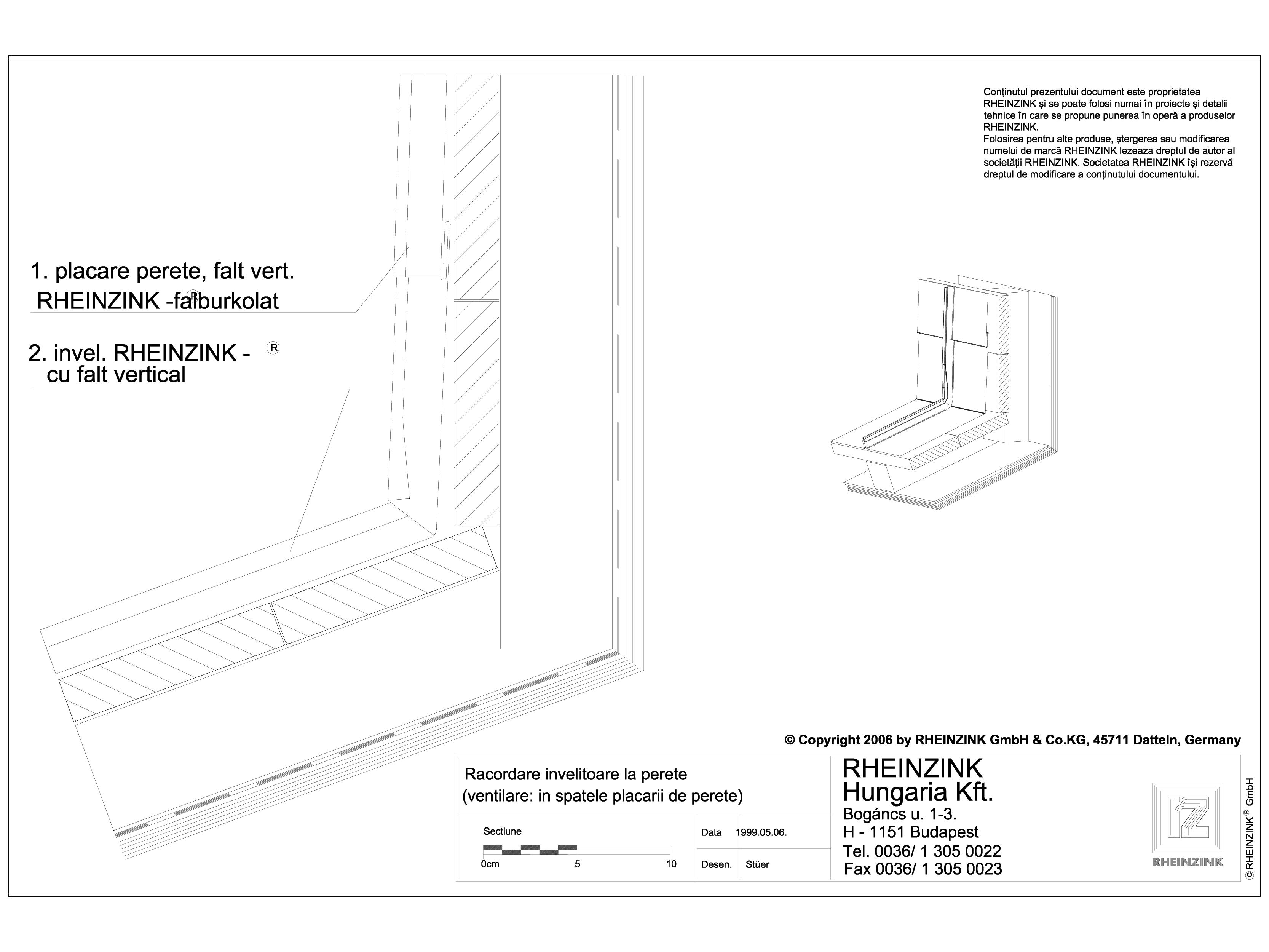 Pagina 1 - CAD-DWG Tabla plana pentru invelitori titan zinc - Racordare invelitoare la perete - 2D...