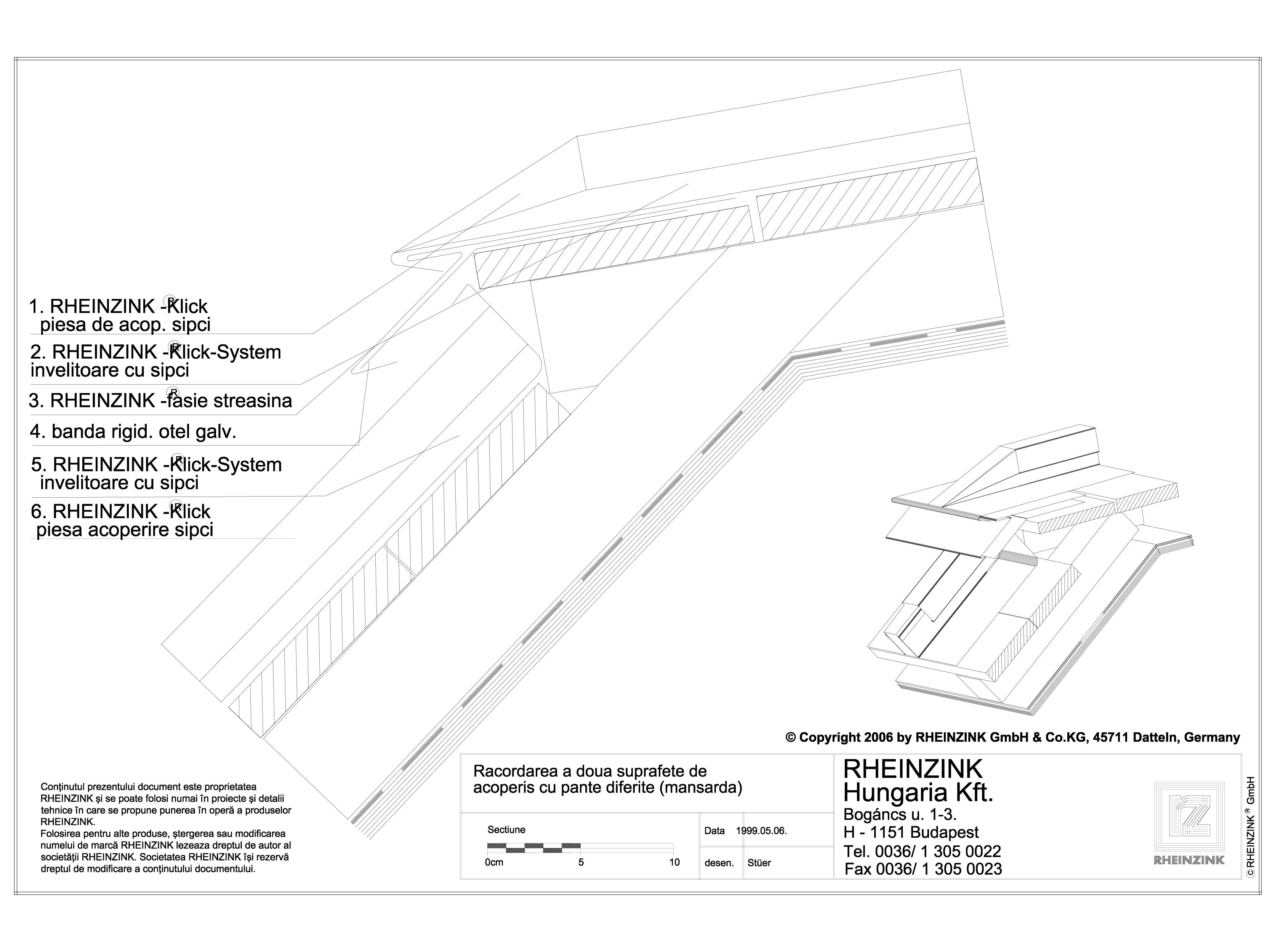 Pagina 1 - CAD-DWG Tabla plana pentru invelitori titan zinc - Racordarea a doua suprafete de...
